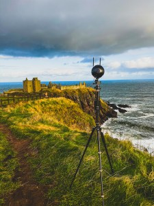 VRtical Media. View of Dunnotar Castle with our company's 360 Camera