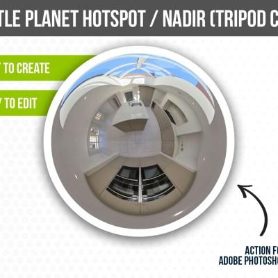 Custom Little Planet Hotspot / Nadir Photoshop Action