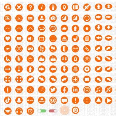 MacNimation White on Orange Set Only Full