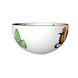 ceramic chicken bowl