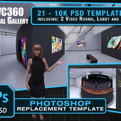 POVC360 10K Virtual Gallery Photoshop Template (16:9)