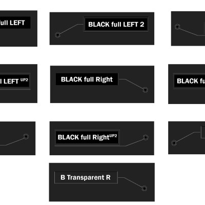 10 Black (right and left) Animated call outs (Photoshop editable)