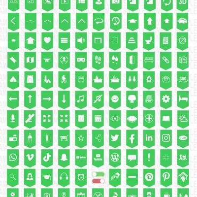 MacNimation - 140 Basic Banner hotspots - Green