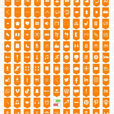 MacNimation - 140 Basic Banner hotspots - Orange