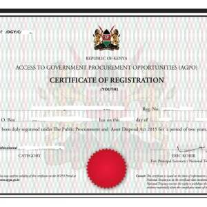 AGPO CERTIFICATE