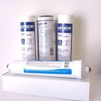Kit con 4 filtri di ricambio per depuratore d'acqua, sistemi ad osmosi inversa