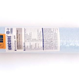 "Ionicore Blue antibacterial Melt blown polypropylene cartridge 10"" - 50 micron"