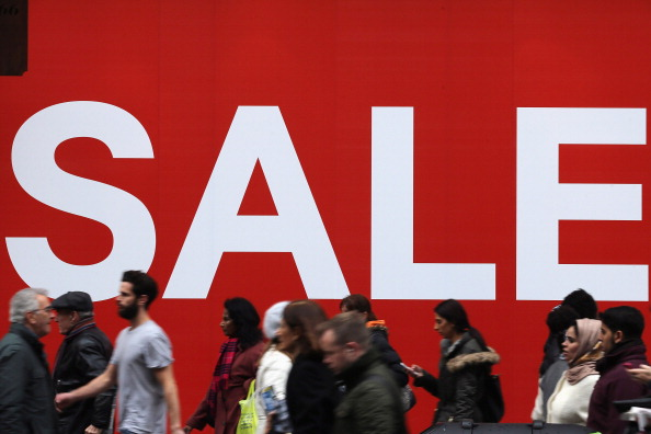 Consumers at sale event
