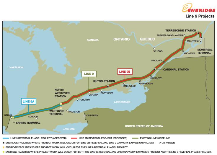 Enbridge Line 9 project