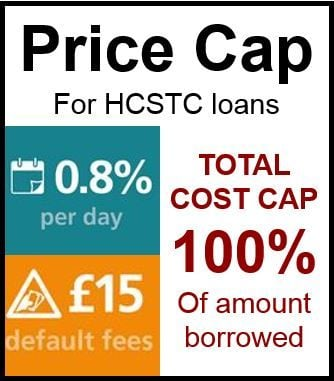 Payday loans price cap