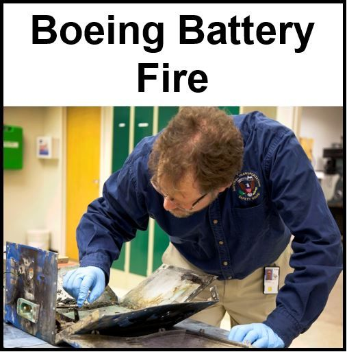 Boeing battery fire