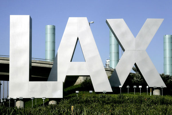 LAX airport sign