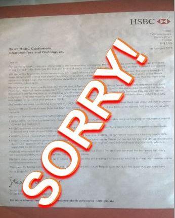 HSBC apology