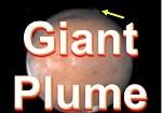 Mars strange plume