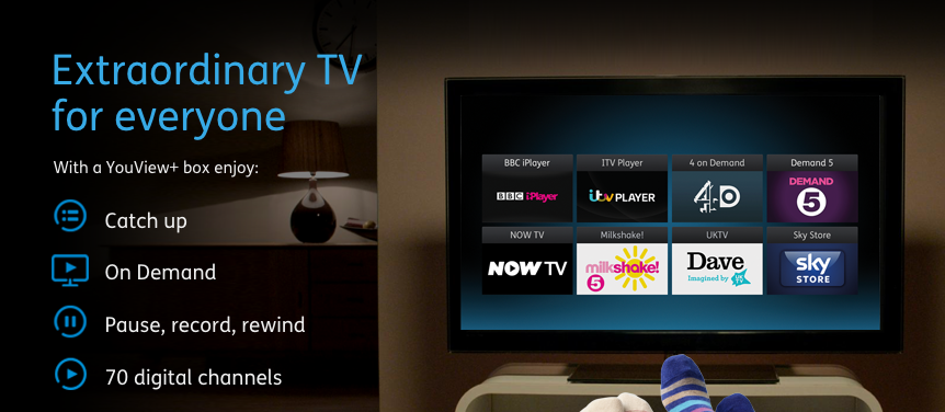 YouView screenshot homepage