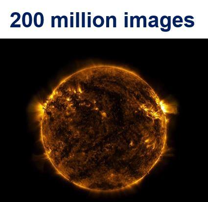 Sun time lapse video