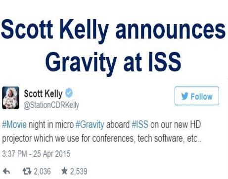 Sott Kelly Gravity
