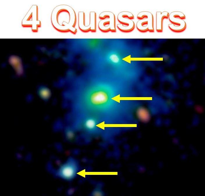 Four quasars