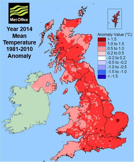 UK weather 2014