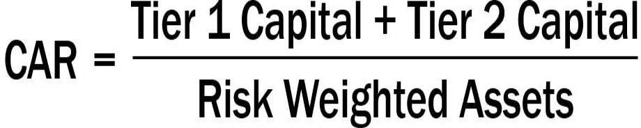 Capital Adequacy Ratio formula - CAR