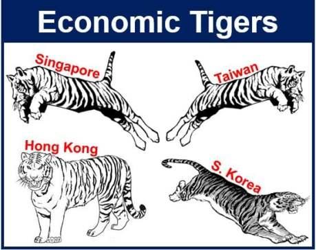 Economic tigers illustration