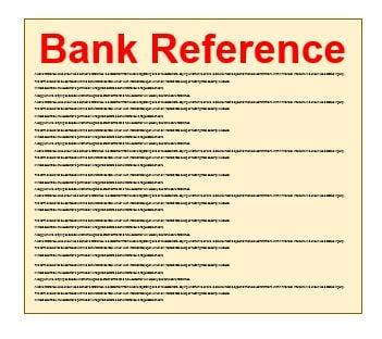 What is the meaning of bank reference number