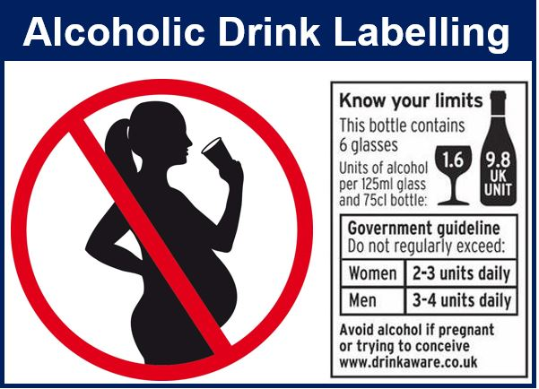 Alcoholic drink labelling