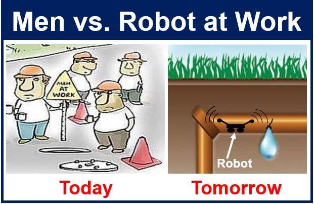 Men versus robots