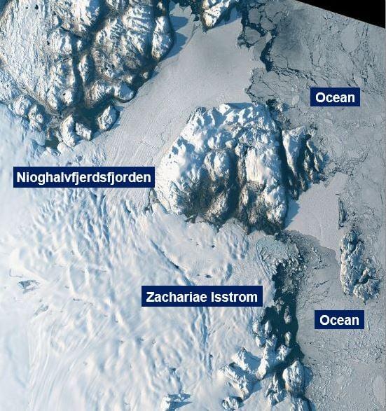 Giant Greenland glacier