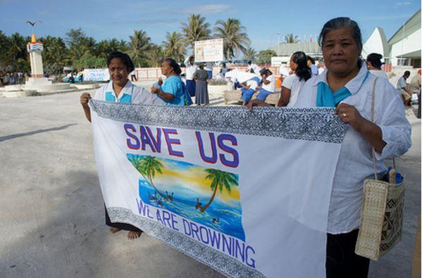 Island nation drowning