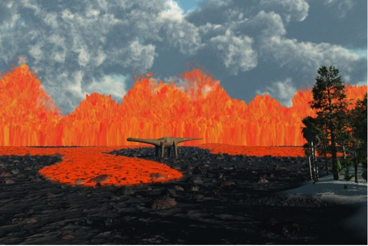 Volcanic activity and dinosaurs
