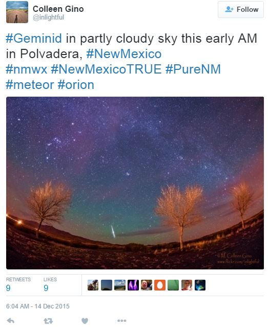 Geminid Meteor Shower New Mexico