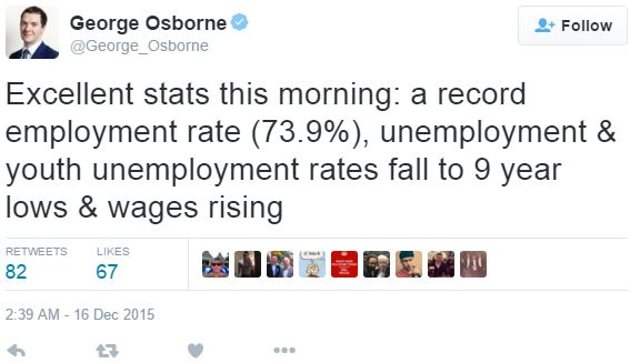 George Osborne Tweet