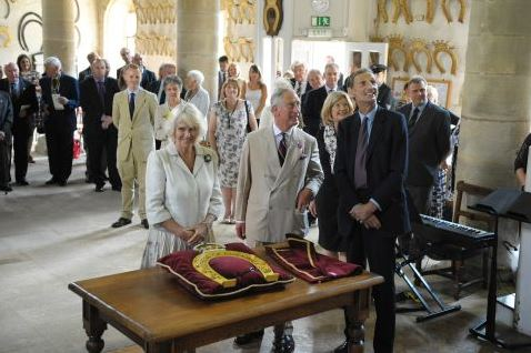 Prince of Wales visiting Oakham Castle