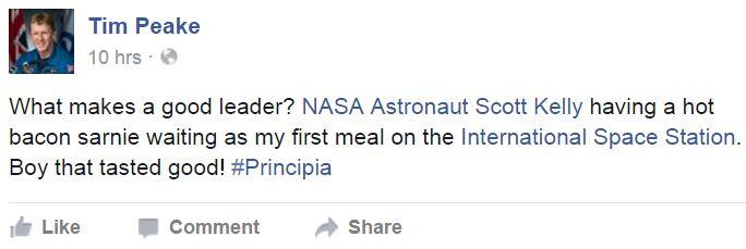Tim Peak facebook