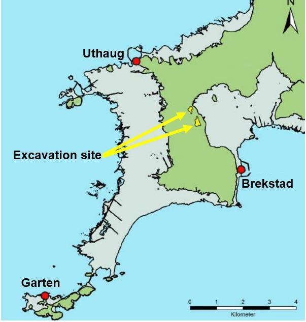 Viking settlement excavation site