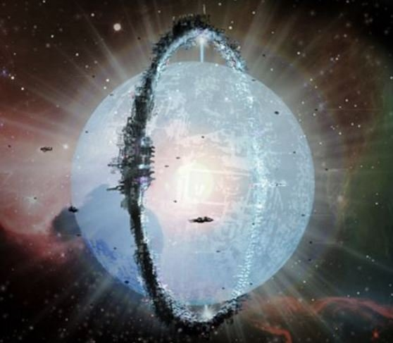 A Dyson Swarm alien megastructure around a star