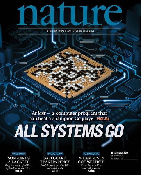AlphaGo made front cover of Nature