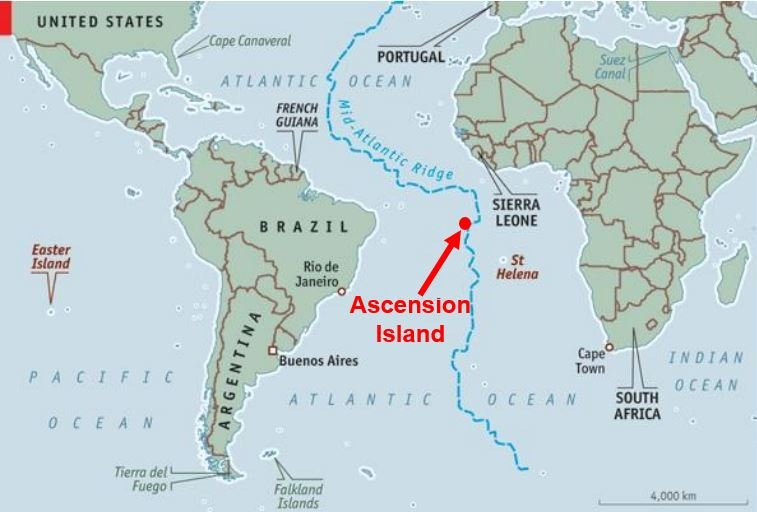 Ascension Island map marine reserve