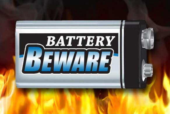 Batteries no longer a fire risk
