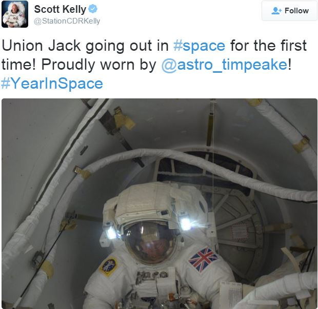 Scott Kelly comments on the first spacewalk by a Briton