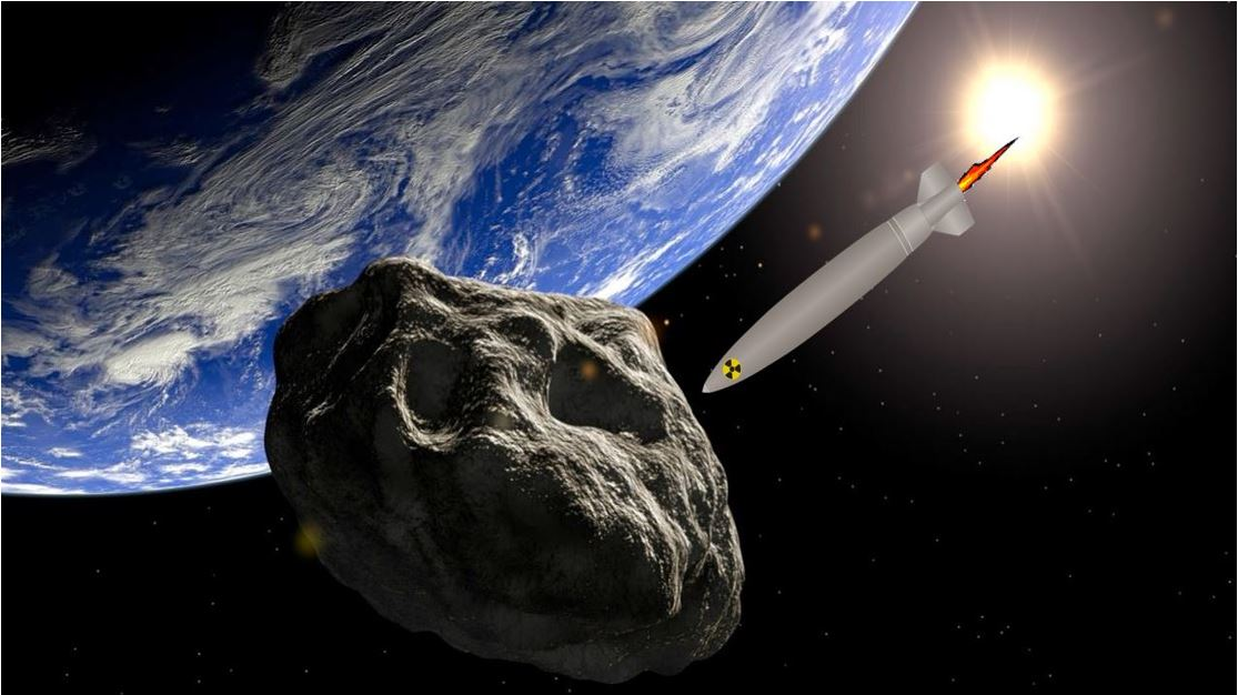 Using nuclear weapons to destroy asteroids