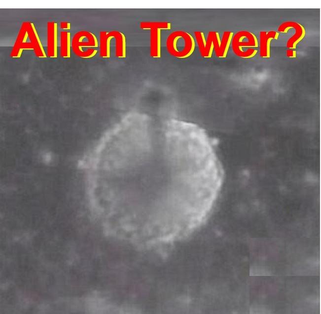 Alien spire on the Moon
