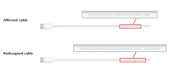 Apple USB-C charge cables