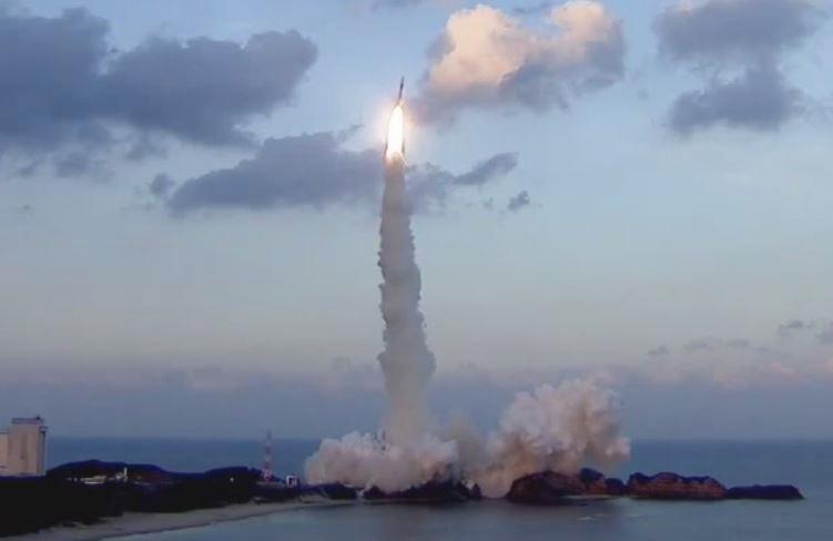 Blast off of the Japanese Astro H satellite