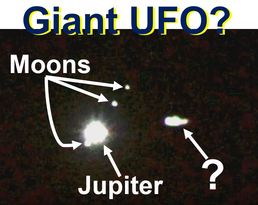 Giant UFO mothership near Europa