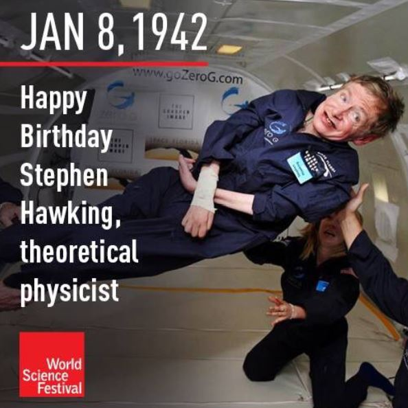 Stephen Hawking celebrating birthday in microgravity