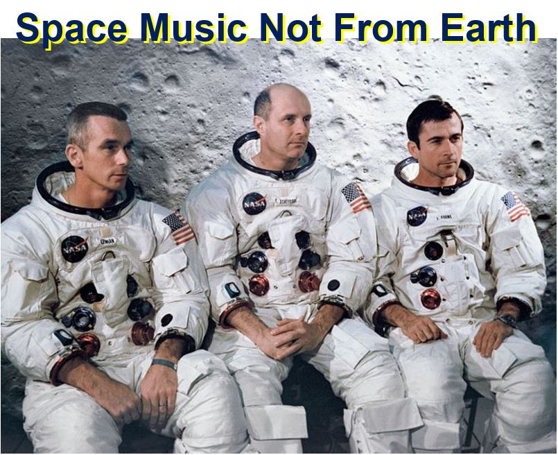 Three three astronauts heard space music not from Earth