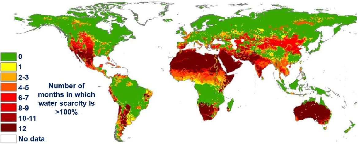 Water shortage number of months water scarcity