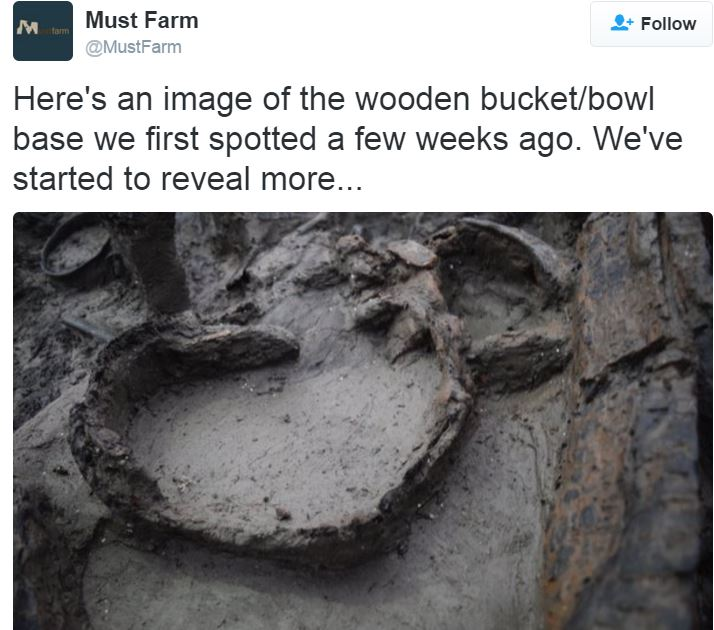 Wooden bucket bowl unearthed at Must Farm